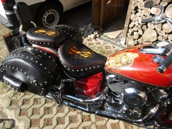 yamaha drag star xvs 650 1100 sitz sitzbank beziehen ebay. Black Bedroom Furniture Sets. Home Design Ideas